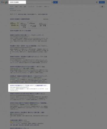 ブログ記事の検索順位
