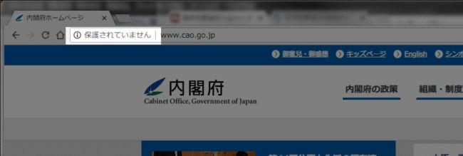 内閣府の公式サイト